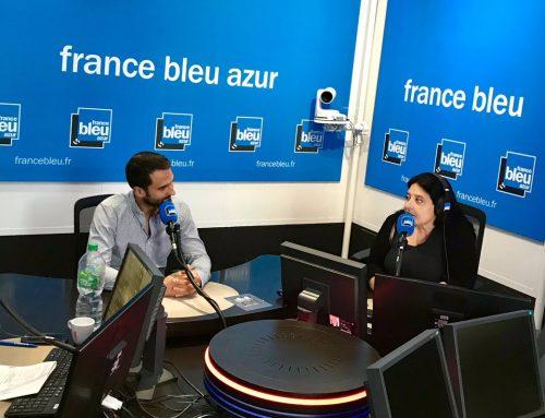 Au micro de France Bleu Azur